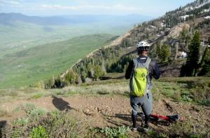 Ben Lomond 2 Admiring View from trail