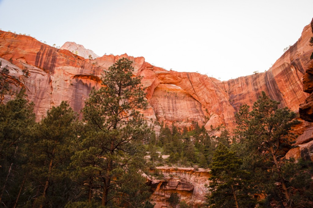 The second largest arch, Kolob Arch, Zion National Park.